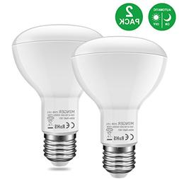 MINGER 10W Dusk to Dawn BR30 LED Bulb Light, Auto Turn On Of