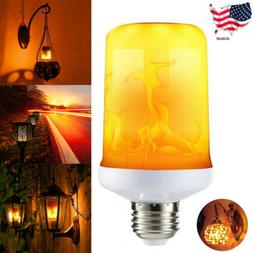 E 27 LED Flame Effect Fire Light Bulb Simulated Burning Fire