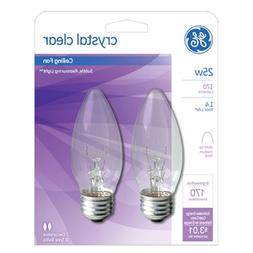 GE Lighting 22756 25 Watt Crystal Clear Blunt Tip Light Bulb