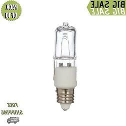10 Pcs of 75 Watt E11 Base Mini Candelabra, Halogen Light Bu