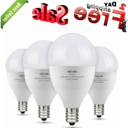 Albrillo E12 Candelabra Base LED Bulbs Daylight 40 Watt Equi