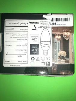 E12 Candelabra LED Bulb, LOHAS 75W Soft White 3000K, 8 Watt