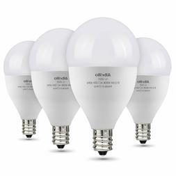 Albrillo E12 Chandelier LED Bulbs Daylight 60 Watt Equivalen