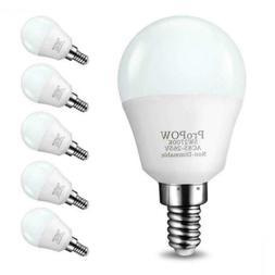 E12 LED Bulb,ProPOW 5W Candelabra Bulbs 40 Watt Equivalent,