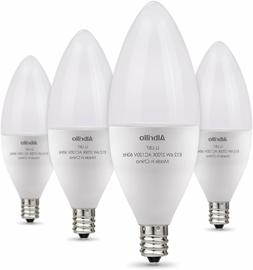 Albrillo E12 LED Candelabra Light Bulbs 6W, 60 Watt Equivale