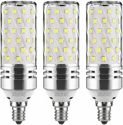 E12 LED Corn Bulbs,12W LED Candelabra Light Bulbs Daylight W