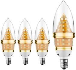 E12 LED Light BULB, 12W Candelabra Bulb, Equivalent 80-100 W