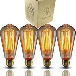 E26 Edison bulbs 40 Watt Dimmable St64- Industrial Pendant F