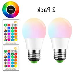 E26 LED Light Bulbs RGB Color Changing 10W A19 Warm White wi