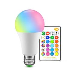 E27 16 Colors Changing Magic Light 10W RGB LED Lamp Bulb Rem