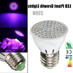 E27 220V LED Plant Grow Light Bulb Lamp Indoor Plants Flower