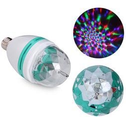 E27 3W Colorful Rotating Stage RGB LED Light Bulb Xmas Party
