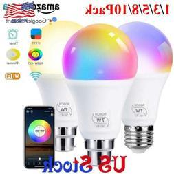E27/B22 LED Dimmable Light Bulbs Wifi Smart Lamp For Alexa/G
