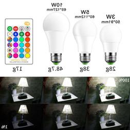 E27 LED Light Bulbs 3W 5W 10W RGB 16 Color Changing Energy S
