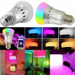 E27 WIFI APP Control Smart LED Bulb Color Changing Amazon Al
