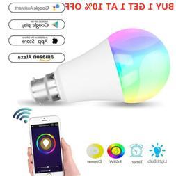E27 Wifi Smart LED Light Bulb for Alexa Google Home App Remo