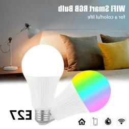 E27 WiFi Smart Light Bulbs RGB LED Light Lamp Compatible wit