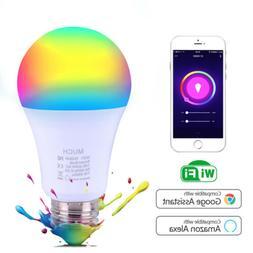 E27 WiFi Smart Light Bulbs RGB LED Light Lamp Compatible wit