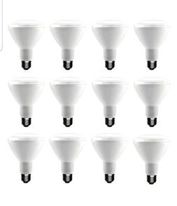 12 PK EcoSmart 9w BR30 LED 65W Soft White Equivalent Dimmabl