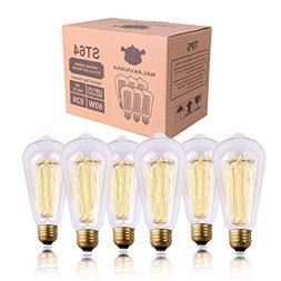 NALAKUVARA Edison Light Bulb, Antique Style Amber Warm Light