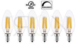 4 Watt LED Edison Filament  LED Candelabra Chandelier Light