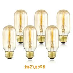 Edison Light Bulbs 6cs Vintage 40 Watt E26 Dimmable Incandes