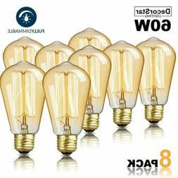 DecorStar Edison Light Bulbs Dimmable E27 60W Antique Vintag
