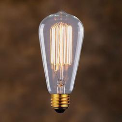 Edison Vintage Light Bulb 60W Filament Retro Industrial Styl