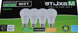 MaxLite Enclosed Rated Soft White LED A19 Light Bulbs  New