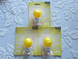TCP 5W Equivalent LED Yellow Bug Light Bulbs, Non-Dimmable