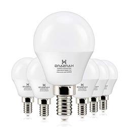 6 watt Hansang LED Bulbs Light E12 Screw Base Candelabra Rou
