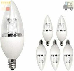 40 Watt Equivalent LED Deco Chandelier Light Bulbs with Smal