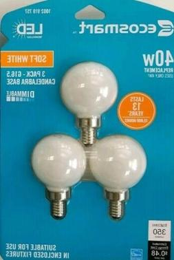 EcoSmart 40-Watt Equivalent G16.5 Dimmable Energy Star Frost