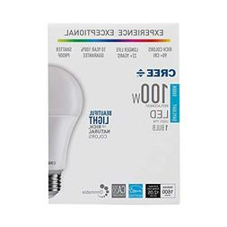Cree LED 100W Equivalent Light Bulb, A21, Dimmable, CRI 90