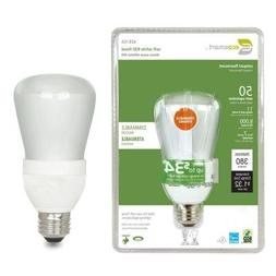 EcoSmart 50W Equivalent 2700K R20 Dimmable CFL Light Bulb, S