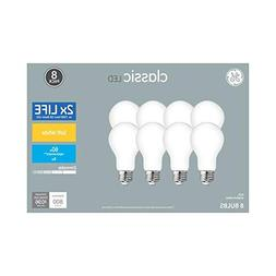 GE 8-Pack 60 W Equivalent Soft White A19 LED Classic Style L