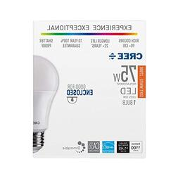 Cree 75W Equivalent Soft White  A19 Dimmable Exceptional Lig