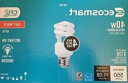 EcoSmart 40W Equivalent Soft White  Spiral CFL Light Bulb