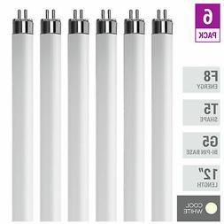 """F8T5/CW - T5 Fluorescent 4100K Cool White - 8 Watt - 12"""" Su"""