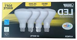 Feit LED Dimmable BR30 Flood Soft White Bulbs 65 Watts, Used