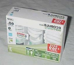 Feit Elec  Ecobulb Plus Soft White 13 W   Spiral  CFL 3 Pack