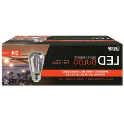 FEIT LED Replacement String Light Bulbs 24-pack,New,Free UPS