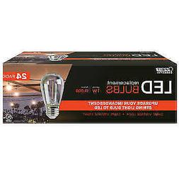 FEIT LED Replacement String Light Bulbs 24-pack