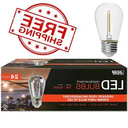 FEIT LED Replacement String Light Bulbs 24-pack - FREE SHIPP