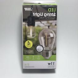 FEIT LED Replacement String Light Bulbs 4-pack 11W Clear Sha