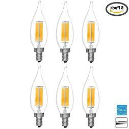 Filament LED 60W Candelabra Base Dimmable Daylight Light Bul