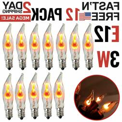 Flicker Flame Light Bulbs E12 Candelabra Base For Electric W