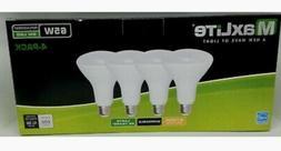 MaxLite Flood LED Bulb, 8W (65W-650 Lumens,Dimmable - 4pk So