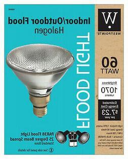 G E LIGHTING Flood Light Bulb, Halogen, Indoor/Outdoor Par 3