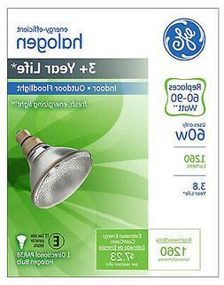 G E LIGHTING Flood Light Bulb, Halogen, Par 38, 60-Watt 7354